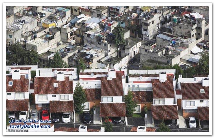 الفرق بين الأغنياء والفقراء في المكسيك