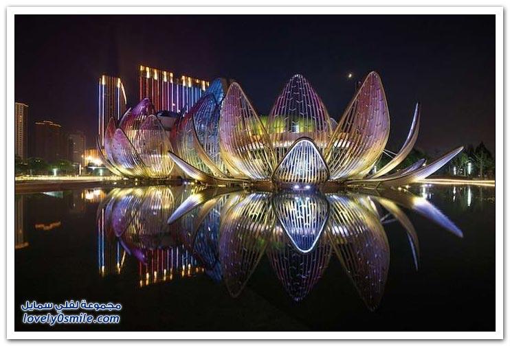 تصميم مبنى مذهل على شكل زهرة اللوتس في الصين