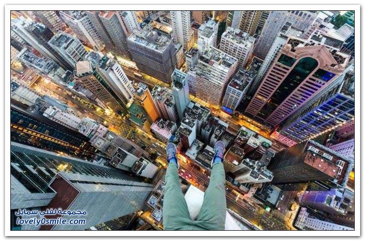 صور مذهلة من أسطح ناطحات السحاب في هونج كونج