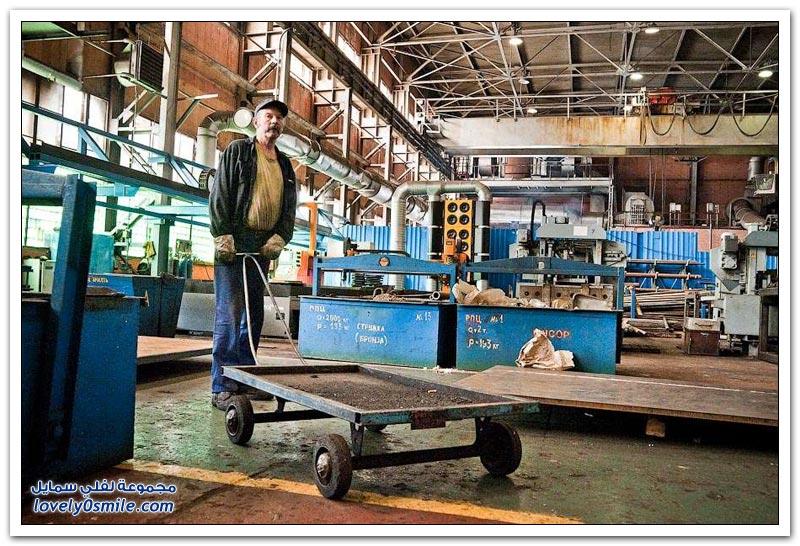 مصنع إنتاج الجرارات في روسيا البيضاء