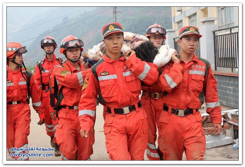 زلزال الصين .. يشرد المئات