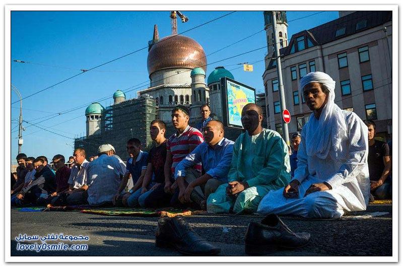 عيد الفطر في موسكو