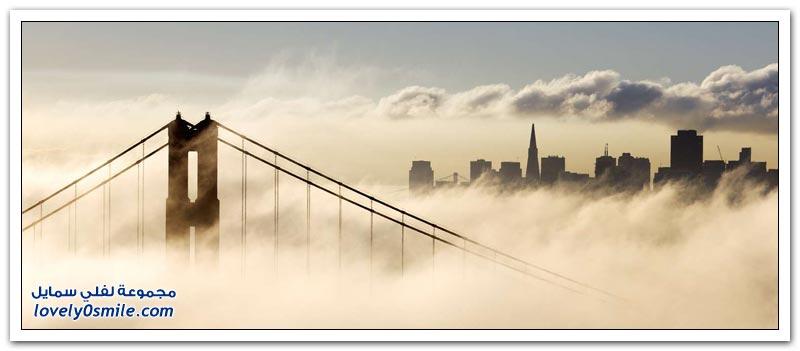 أشهر جسر في أمريكا جسر البوابة الذهبية