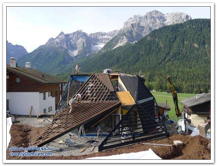 البيت المضلع في جبال الألب الإيطالية