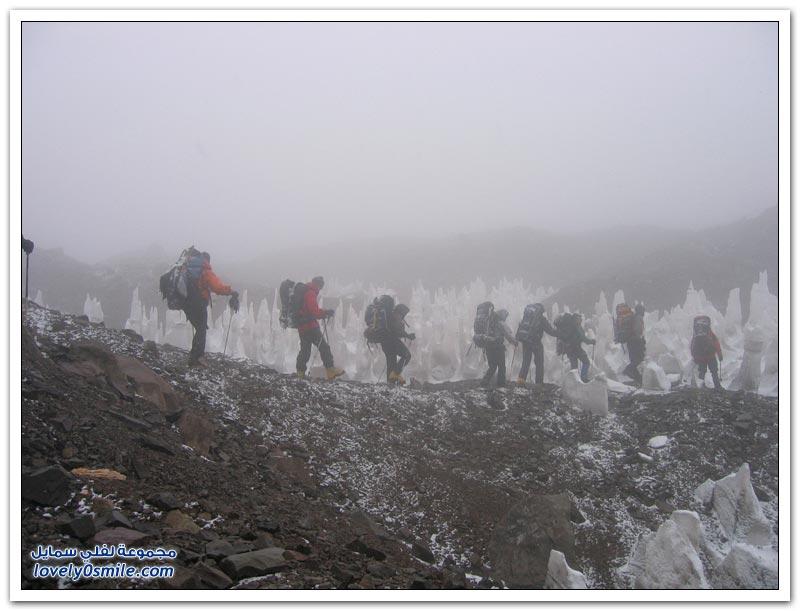 الإبر الجليدية ظاهرة طبيعية غامضة في مرتفعات الأنديز