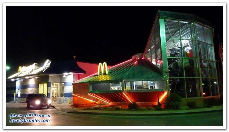 أشكال مطاعم ماكدونالدز حول العالم