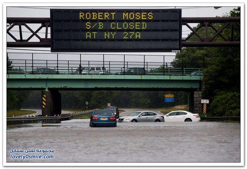أمطار تغلق طرقات جنوب نيويورك