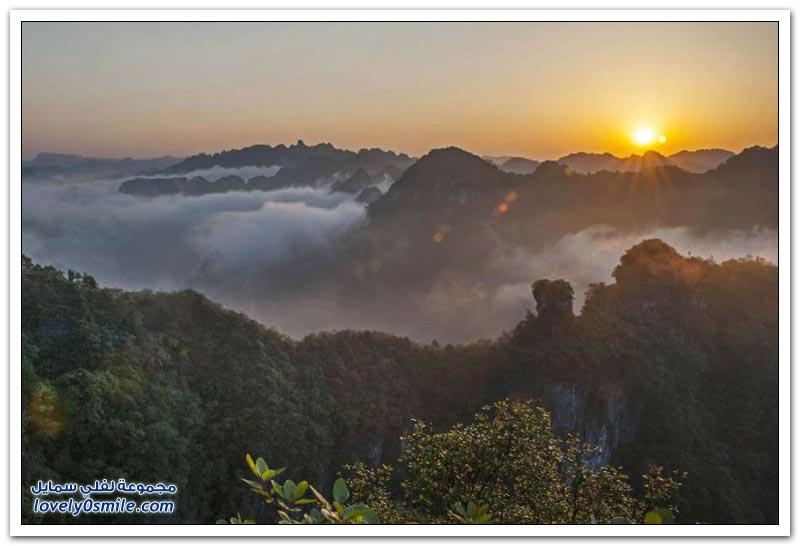 جمال الطبيعة في كارست جنوب الصين