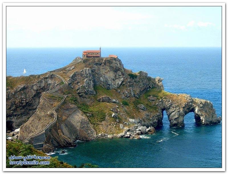 جزيرة سان خوان gaztelugatxe في أسبانيا