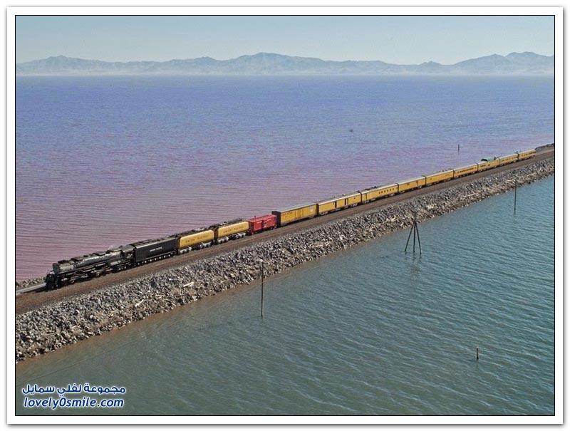 بحيرة سولت ليك الكبرى في أمريكا