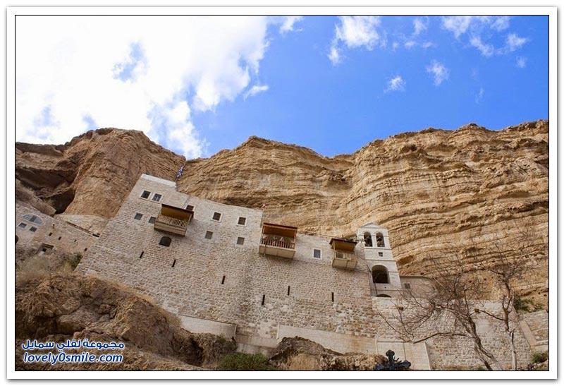 وادي القلط ودير سانت جورج قرب أريحا في فلسطين