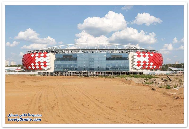 الملعب الجديد لفريق سبارتاك الروسي أحد ملاعب مونديال 2018م