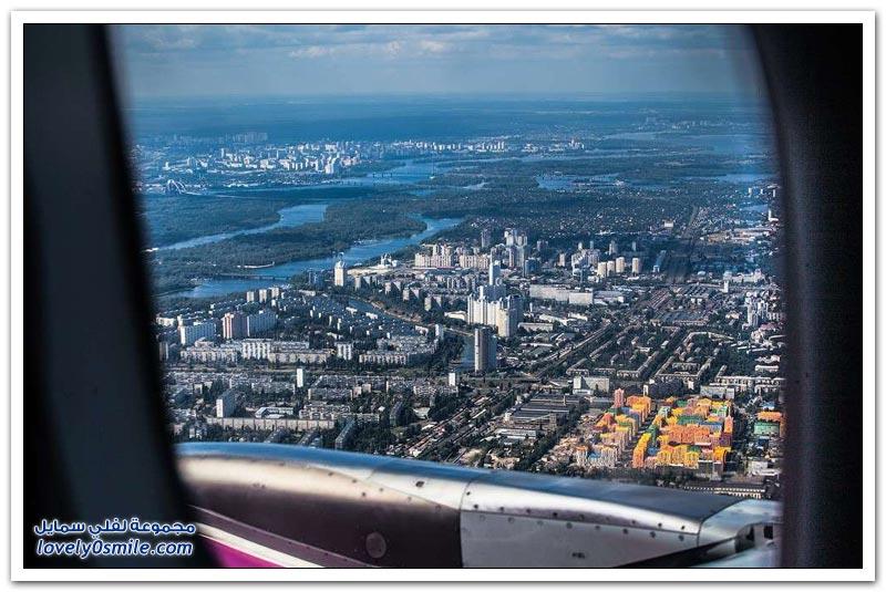 جولة جوية على مدينة كييف