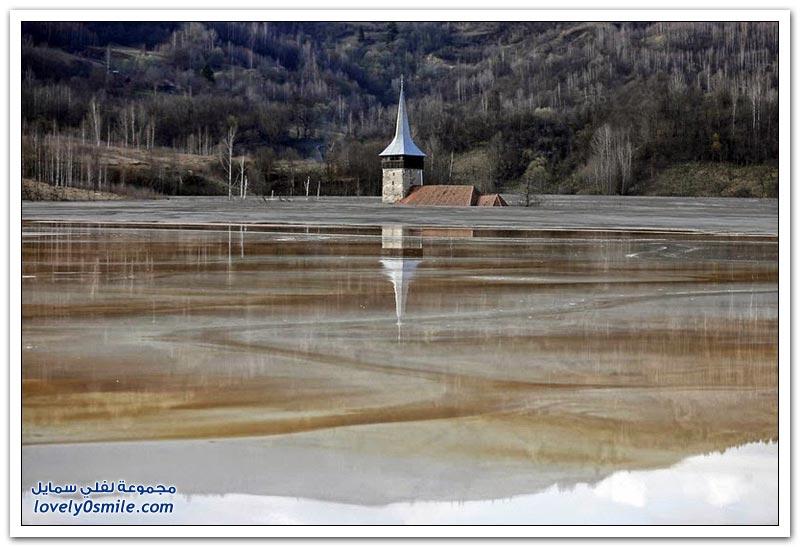 جيمانا، قرية رومانية تغمرها بحيرة سامة