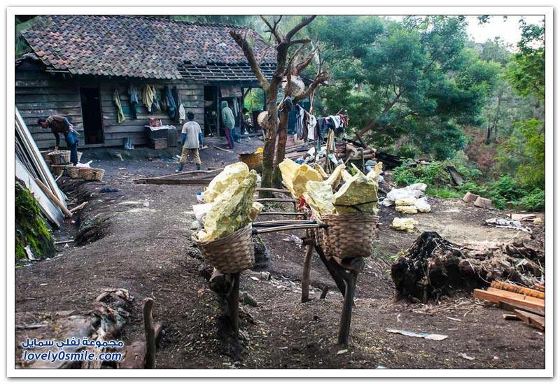 كيفية استخراج الكبريت في إندونيسيا