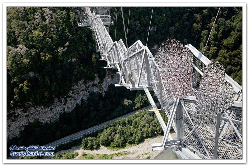أطول جسر معلق للمشاة في روسيا