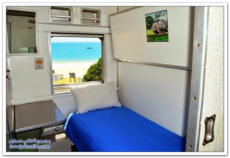 فندق القطار العجيب على شاطىء سانتوس