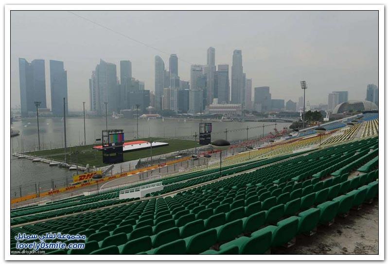 الدخان يغطي سنغافورة