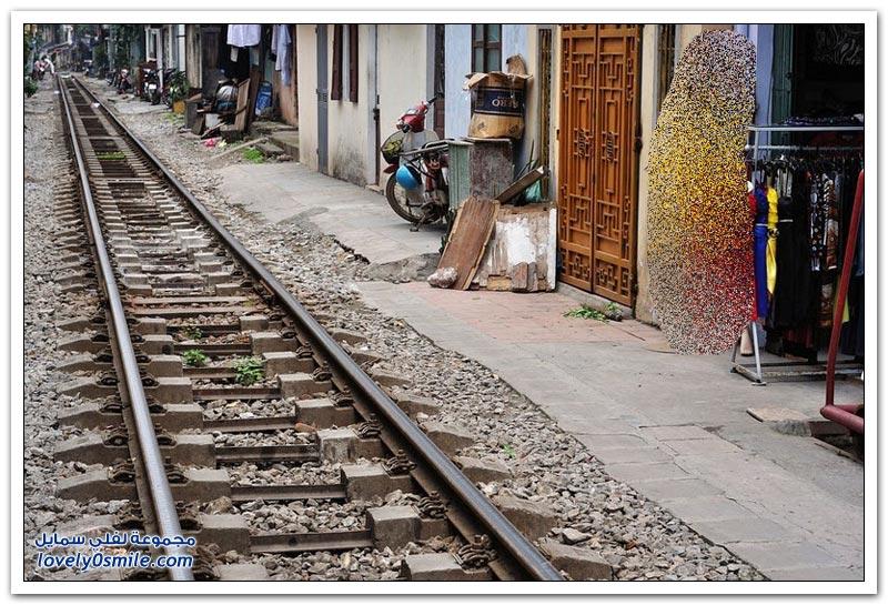 قطارات الفناء الخلفي في هانوي