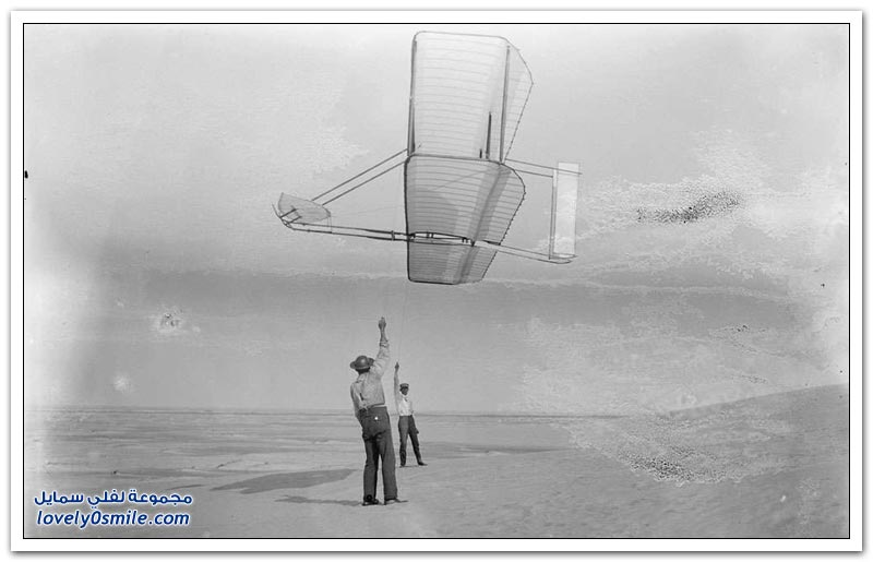 أول تجربة طيران ناجحة على يد الأخوين رايت