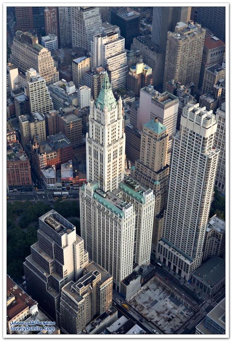 منظر من الأعلى لمدينة نيويورك