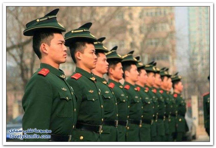 الانضباط أثناء التدريب في الشرطة الصينية