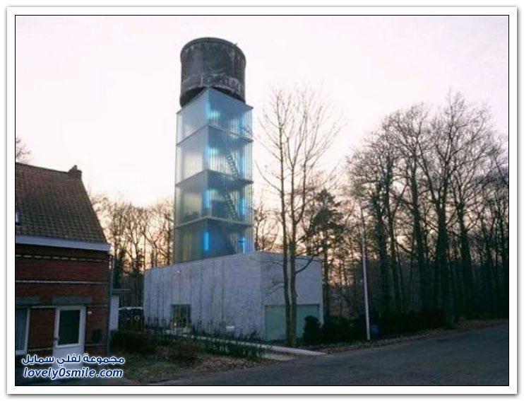 أبراج مياه تحولت إلى منازل