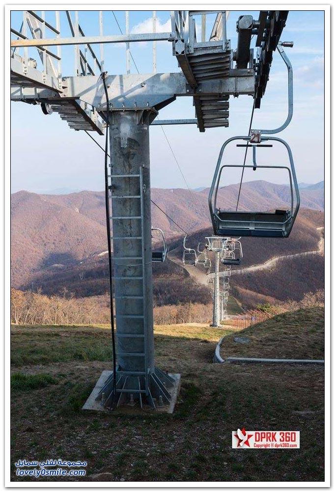 منتجع تزلج مهجور بلا ثلوج ولا سياح في كوريا الشمالية