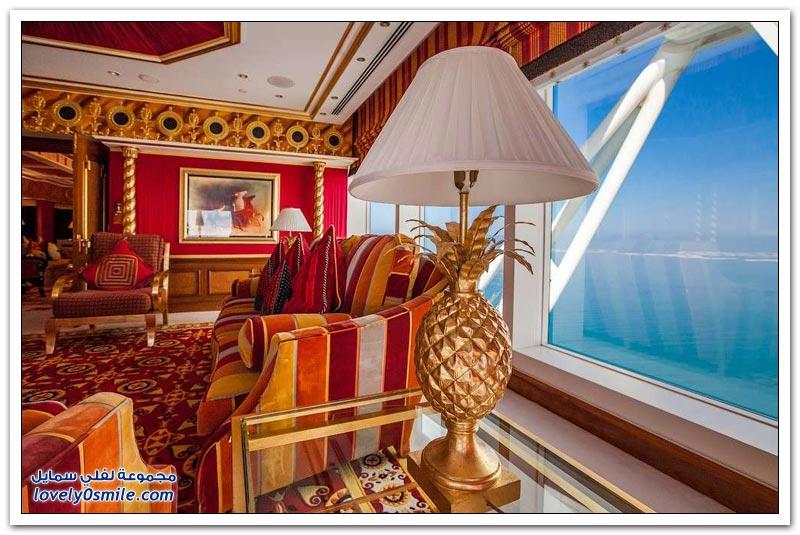 الأجنحة الأغلى والأكثر فخامة في فندق برج العرب