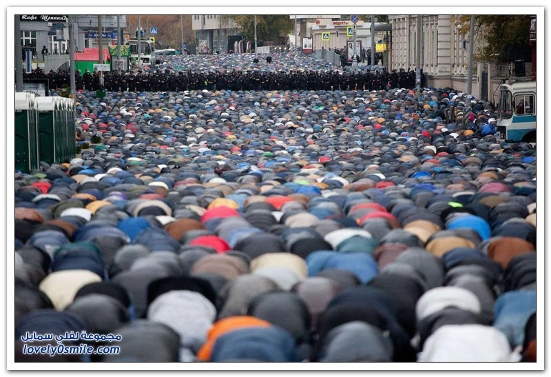 صلاة عيد الأضحى في موسكو 1435هـ