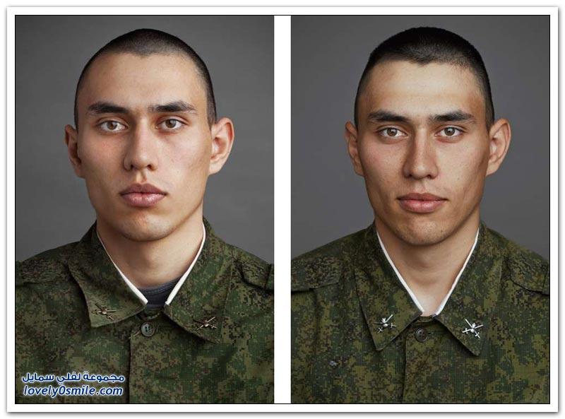 صور لجنود روس قبل وبعد دخولهم الجيش