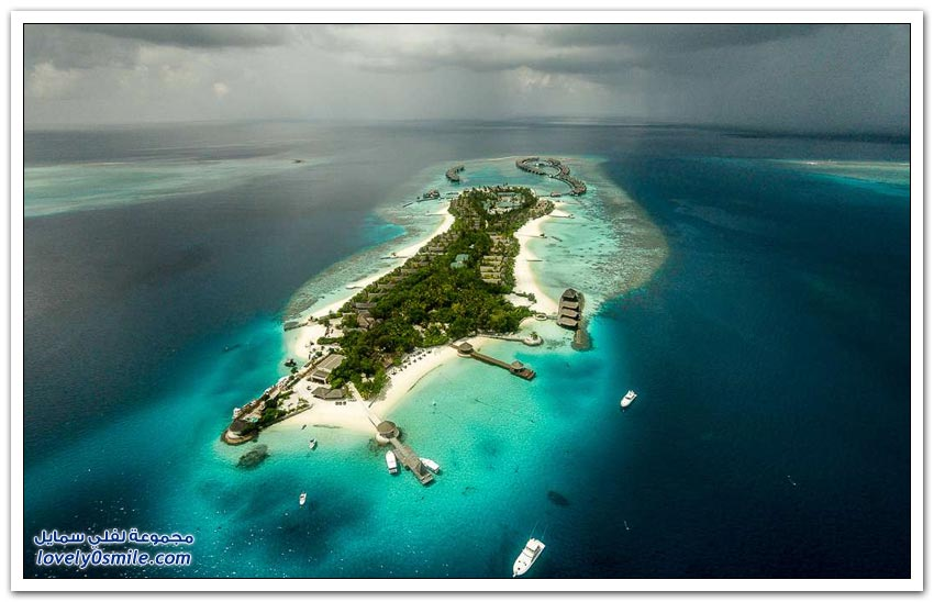 صور جوية لجزر المالديف