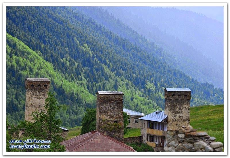 أبراج حجر سفانيتي في جورجيا