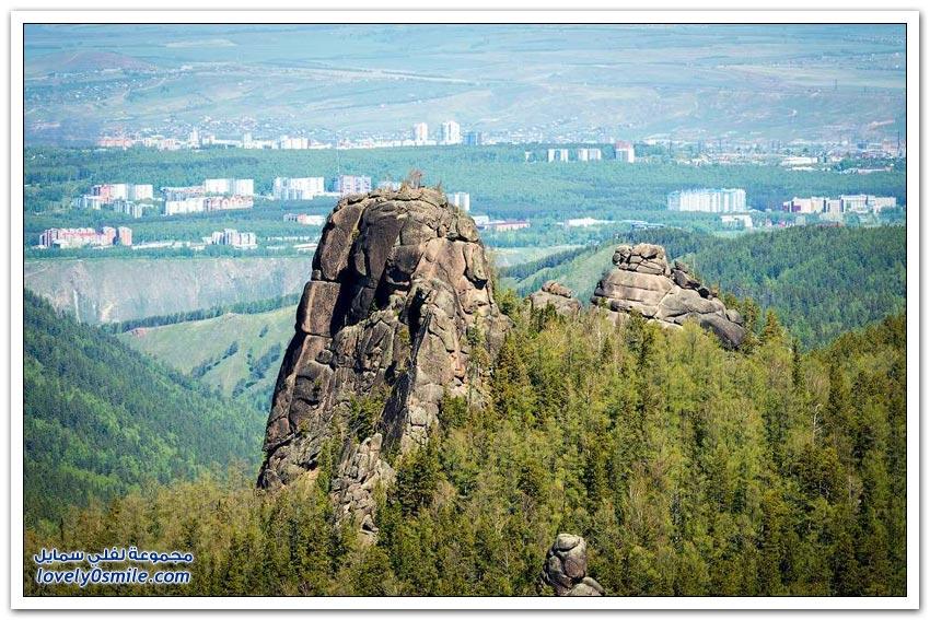 جولة جوية على مدينة كراسنويارسك الروسية