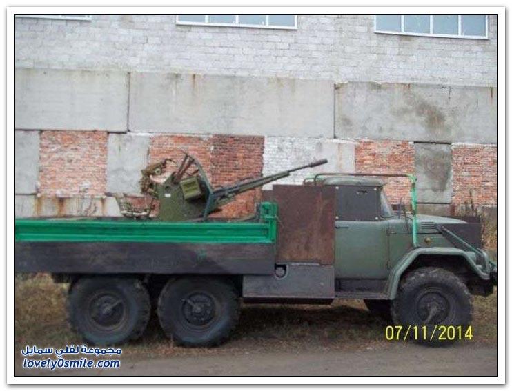 أوكرانيين يستخدمون أفكار الثورات العربية في العربات المصفحة