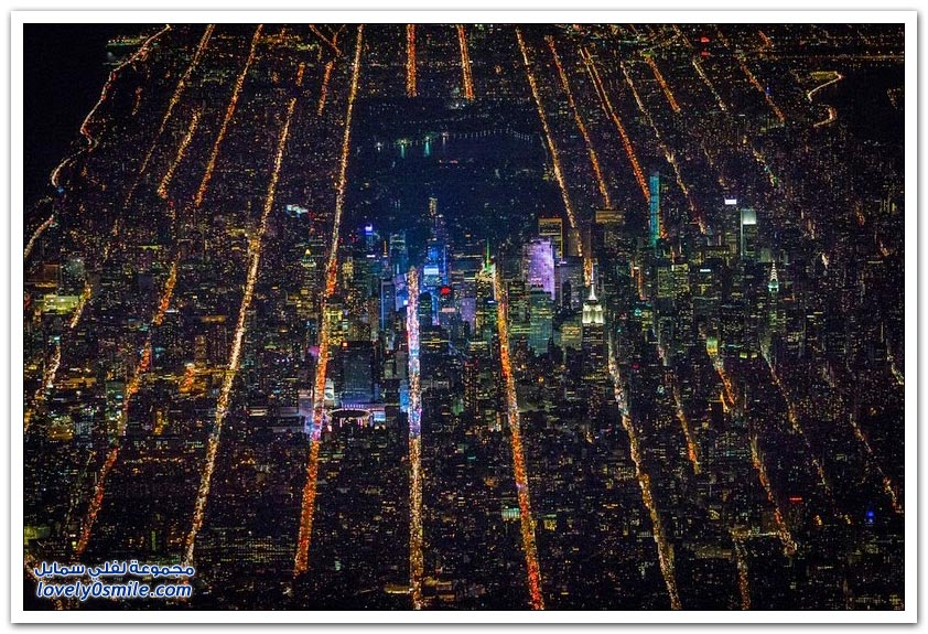 صور رائعة لمدينة نيويورك من ارتفاع 7،500 قدم
