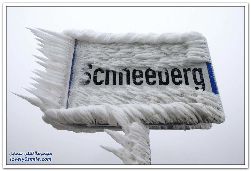 تجمد المطر في ألمانيا والنمسا