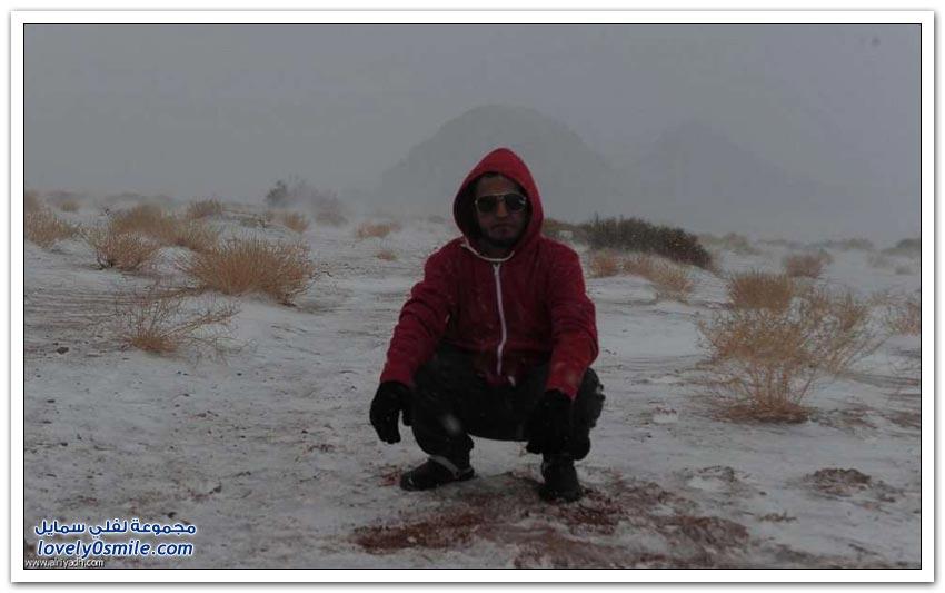 جبال تبوك تكتسي بالبياض