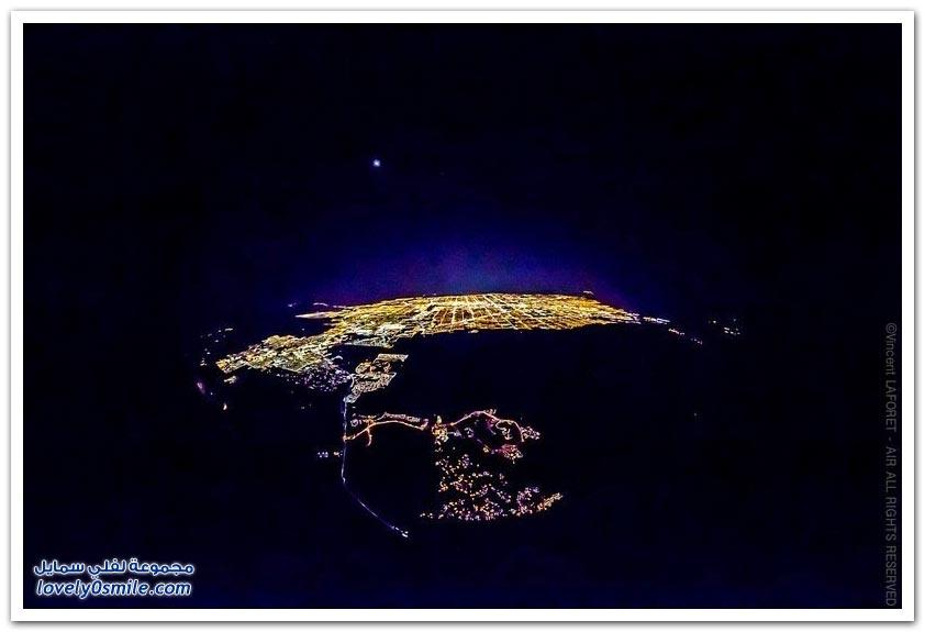 لاس فيغاس ليلا من ارتفاع 8799 قدم