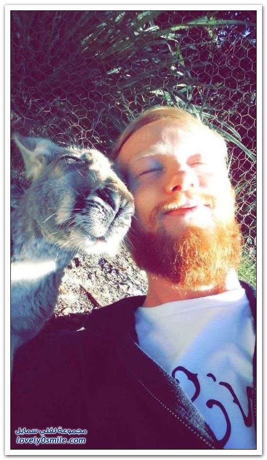 صور Selfie مع حيوانات