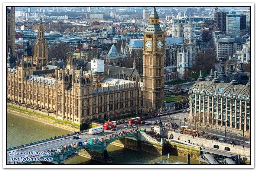 جولة جوية على مدينة لندن
