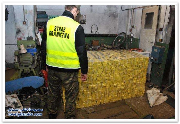 إحباط محاولة تهريب آلاف السجائر في بولندا