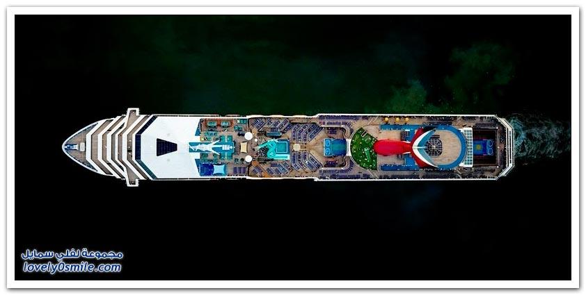 صور رائعة من أعلى لأضخم السفن السياحية في العالم