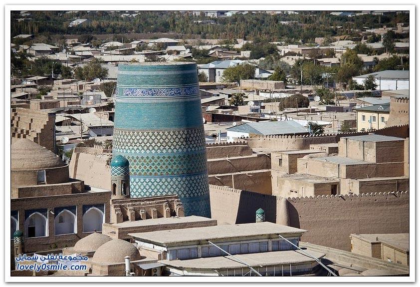منارة مدينة خوارزم في أوزبكستان
