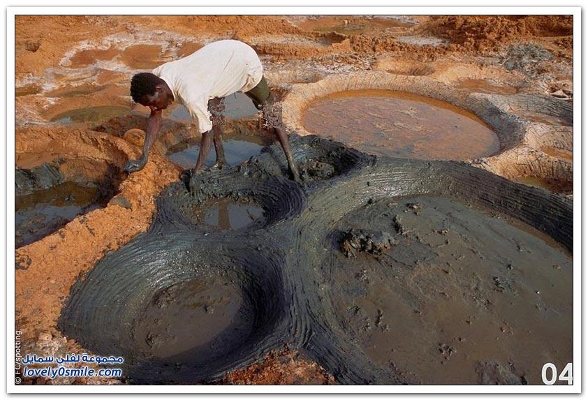 برك تبخير المياه المالحة في النيجر