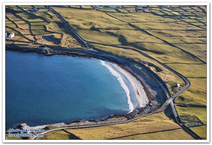 الجدران الحجرية في جزيرة اينيس، إيرلندا