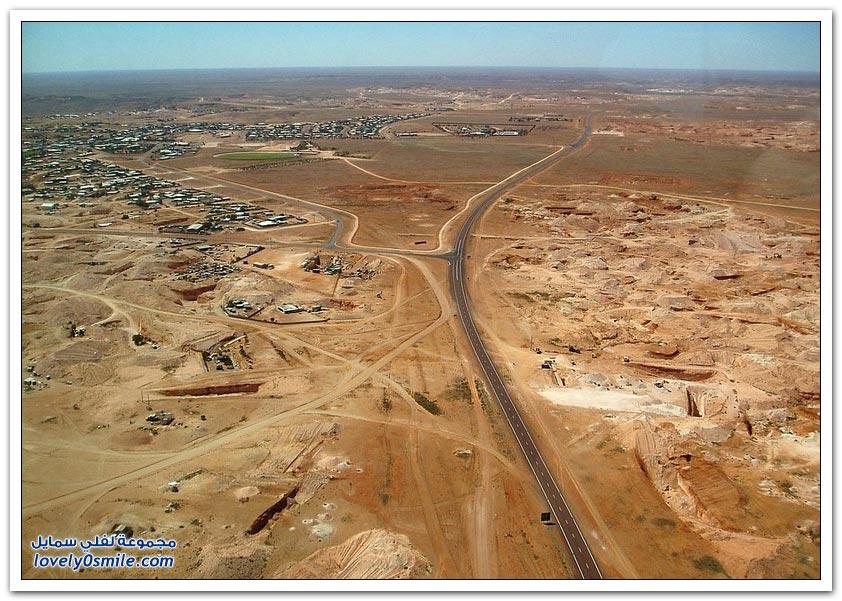 مدينة أسترالية يعيش سكانها تحت الأرض