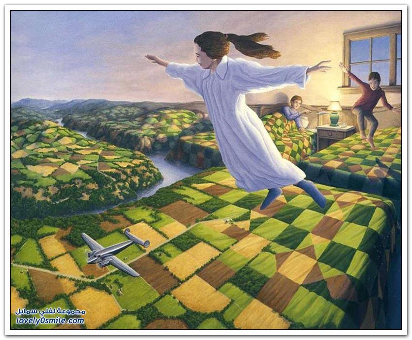 رسام كندي يمزج الواقع والخيال في لوحاته