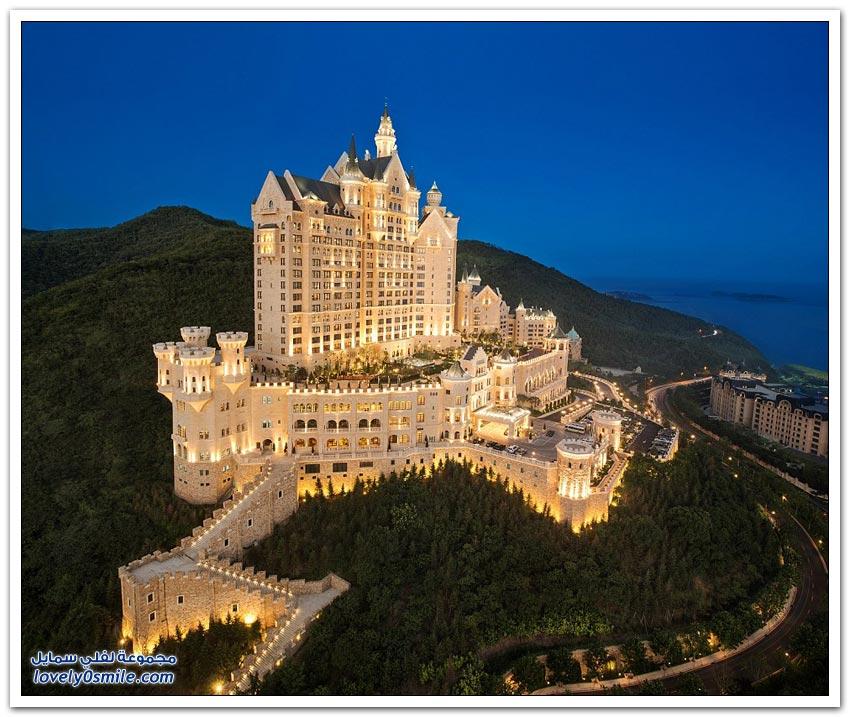 فندق القلعة بمدينة داليان الصينية
