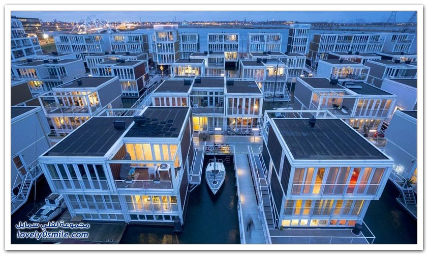 البيوت العائمة أحدث مشروع في أمستردام